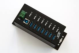 USB HUB 12V/24V DC, 7 Port USB 3.0 -Industrie Grade-